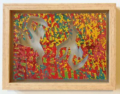 Felix Droese Doppelrichter Papierschnitt 2018 25 x 19,5 cm