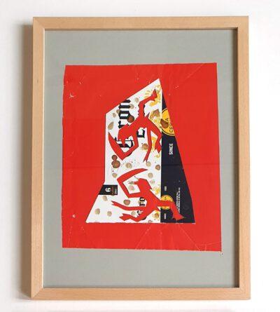 Felix Droese Teufel Corona 1 Papierschnitt 2020 32,5 x 42,5 cm