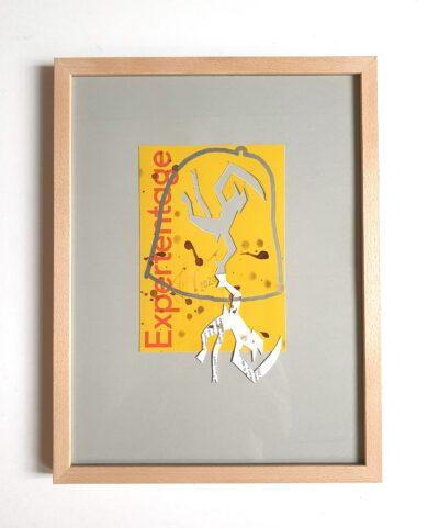 Felix Droese Teufel Expertentag Papierschnitt 2020 32,5 x 42,5cm