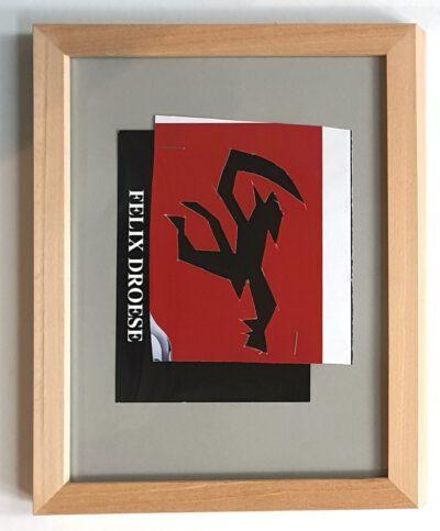 Felix Droese Teufel Papierschnitt 2020 18 x 24 cm