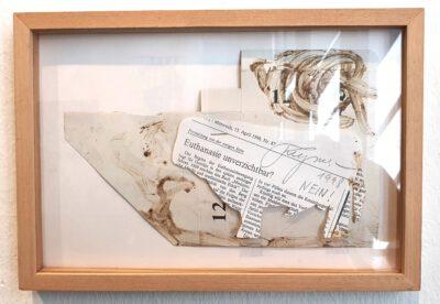 Felix Droese Nein Papierschnitt Collage 1998