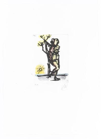Markus Lüpertz Daphne handübermalte Radierung 2013/2015 69,5 x 49,5 cm