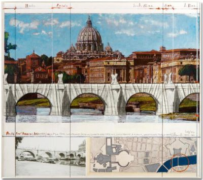 Christo und Jeanne-Claude Ponte Sant Angelo Wrapped Collage 2011