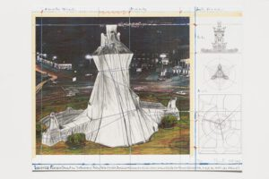 Christo und Jeanne-Claude Wrapped Fountain Collage 2009