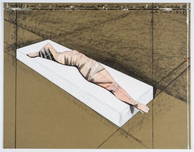 Christo und Jeanne-Claude Wrapped Woman Collage 1997