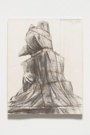 Christo und Jeanne-Claude W.M. 4 – Wrapped Monument to Vittorio Emanuele Lithografie 1975
