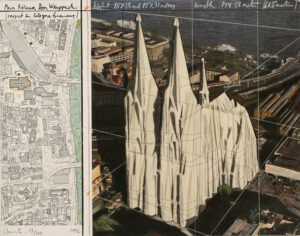 Christo und Jeanne-Claude Mein Kölner Dom Wrapped Project for Cologne Collage 1992