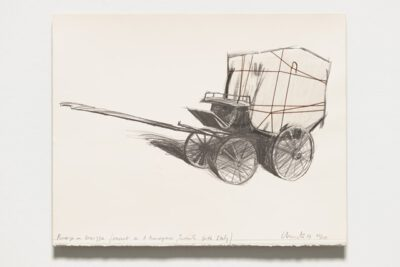 Christo und Jeanne-Claude Package on Carrozza Collage 1984