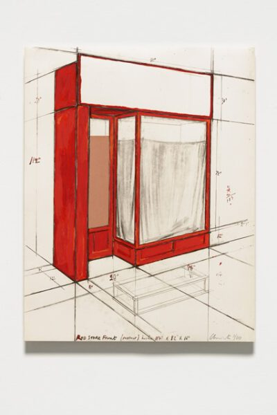 Christo und Jeanne-Claude Red Store Front Collage 1977