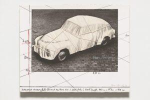 Christo und Jeanne-Claude Wrapped Automobile (Volvo) Collage 1984