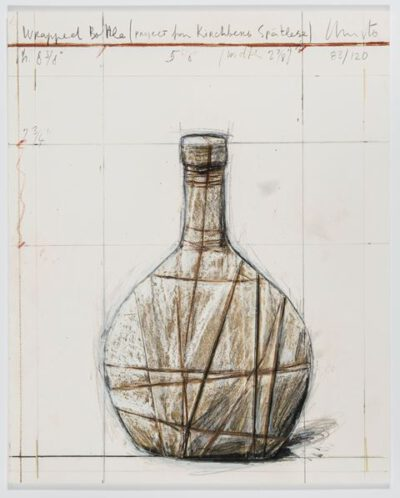 Christo und Jeanne-Claude Wrapped Bottle Collage 2007