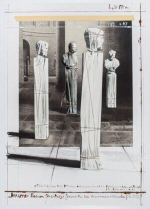 Christo und Jeanne-Claude Wrapped Roman Sculptures Collage 1991