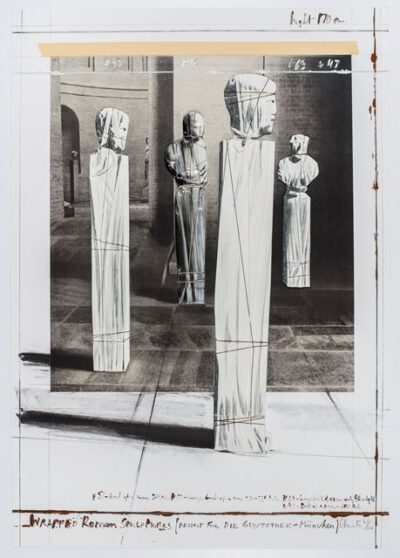 Christo und Jeanne-Claude Wrapped Roman Sculptures Collage 1991