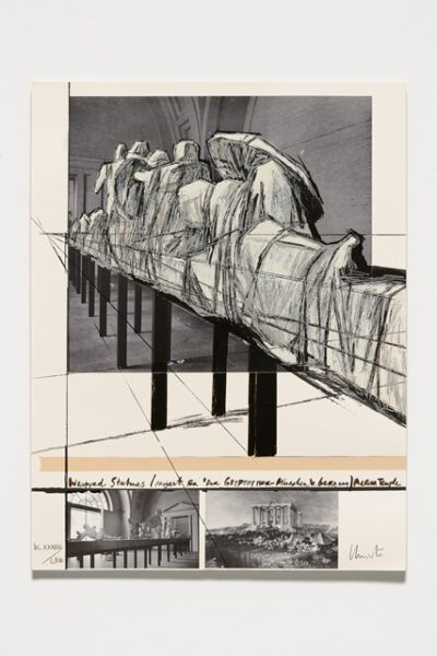 Christo und Jeanne-Claude Wrapped Statues (Glyptothek) Collage 1988
