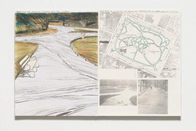 Christo und Jeanne-Claude Wrapped Walk Ways Collage 1983
