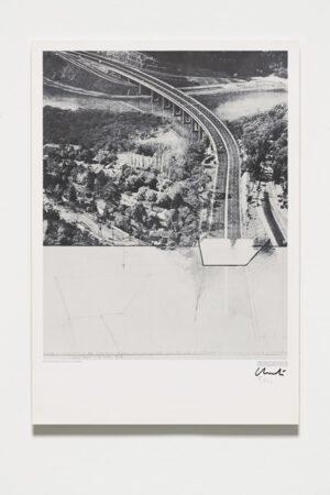 Christo und Jeanne-Claude Closed Highway Grafik 1972