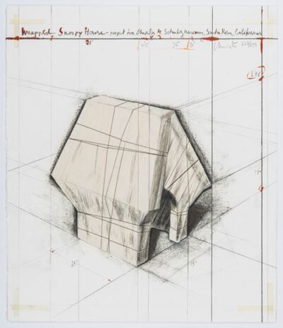 Christo und Jeanne-Claude Wrapped Snoopy House Collage 2004