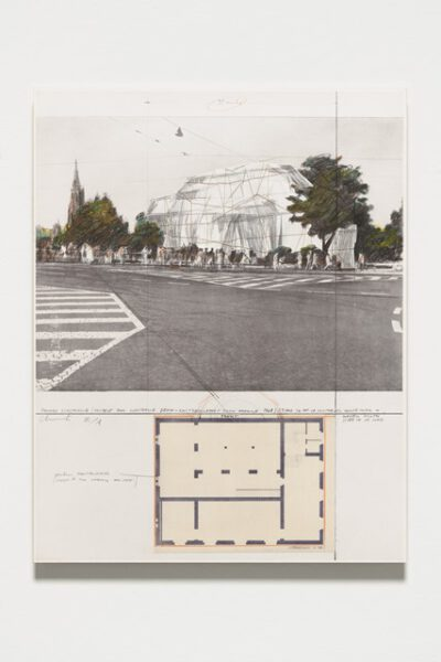 Christo und Jeanne-Claude Wrapped Kunsthalle Bern Project Collage 1972