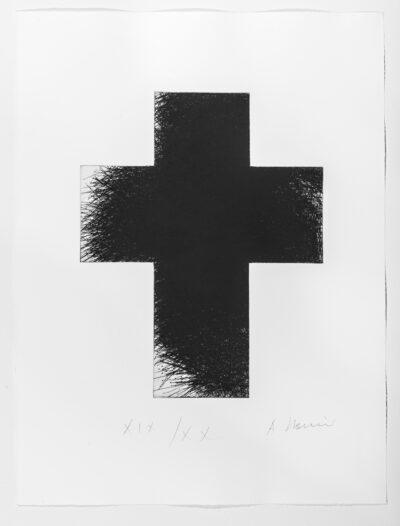 Arnulf Rainer Dark Green Cross Radierung 1992/2014