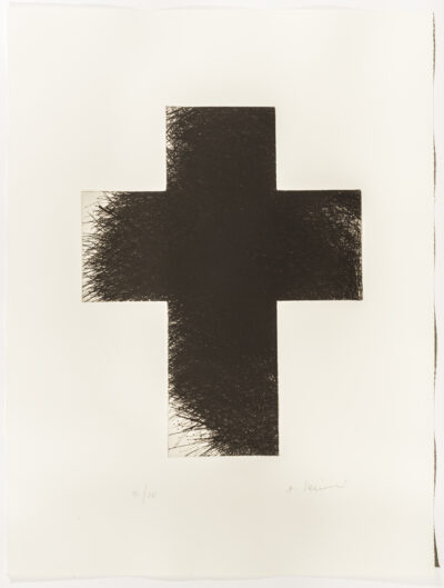 Arnulf Rainer Dark Cross Radierung 1992/2014