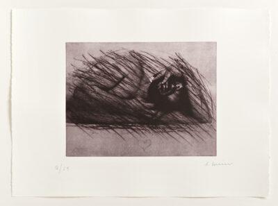 Arnulf Rainer Strichelei mit Herz Radierung 1974-75/2013