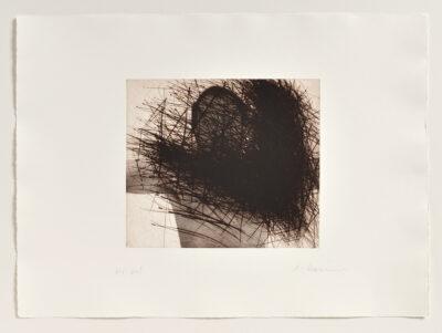 Arnulf Rainer Selbst mit Ecke (Selbstverdeckung) Radierung 1975/1999