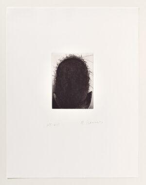 Arnulf Rainer Schattenbüste Radierung 1977/1991
