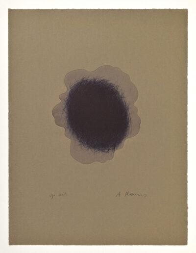 Arnulf Rainer Blaue Wolke Radierung 1995