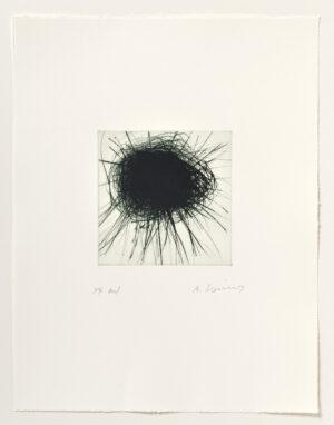 Arnulf Rainer Dunkle Sonne Radierung 2003