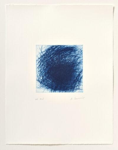 Arnulf Rainer Blaue Galaxie Radierung 2005