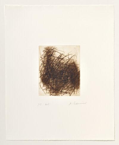 Arnulf Rainer Gebüsch im Herbst (Toter im Gebüsch) Radierung 1979-80/2002