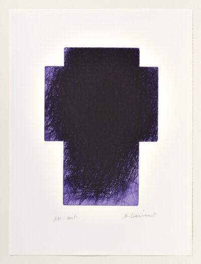 Arnulf Rainer Violett-Kreuz Radierung 2001