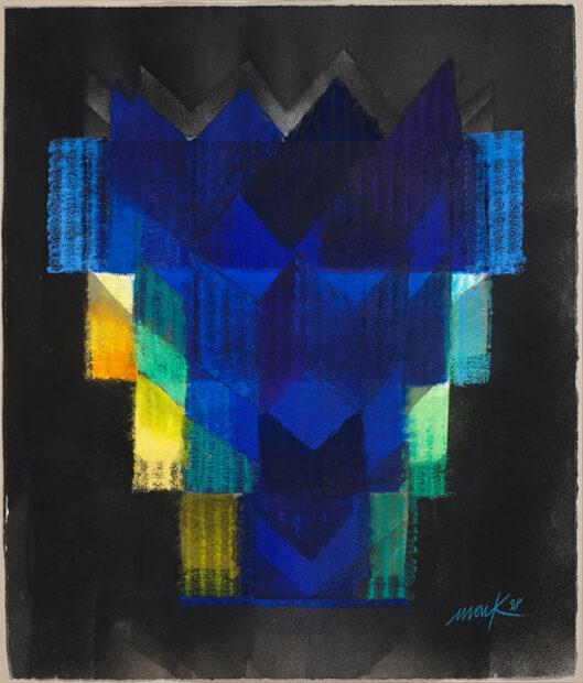 Heinz Mack West-Östlicher Divan, Ohne Titel, 1998, Pastell und Acryl, 63 x 53,5 cm, © Archiv Mack, VG Bild-Kunst, Bonn 2015