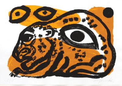 A. R. Penck Grafi Siebdruck Vor der Beute II 1993 70 x 100 cm 10 arabisch nummerierte Exemplare, handsigniert