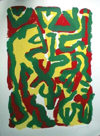A. R. Penck Komposition 1997 Siebdruck 120 x 80 cm 5 arabisch nummerierte handsignierte Exemplare