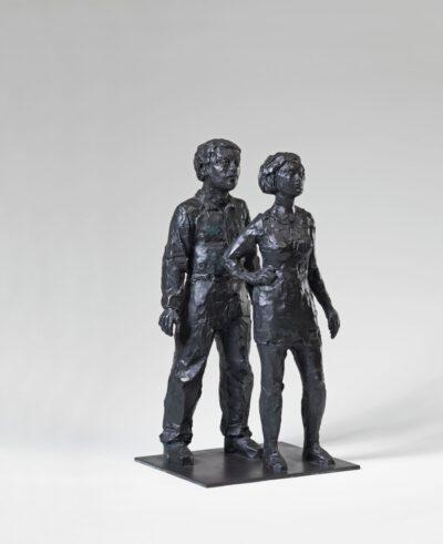 Stephan Balkenhol Skulptur Paar 2005 Bronze 60 Exemplare