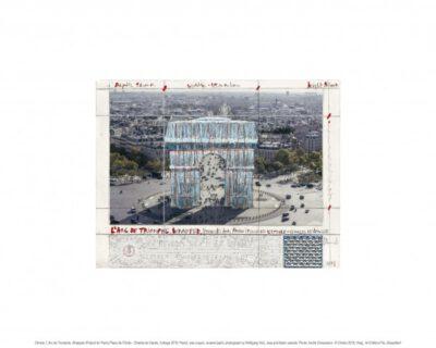 Christo Arc de Triomphe (Project for Paris) 2019 Pigmentdruck auf Bütten 40 x 50 cm Auflage: 500 Exemplare