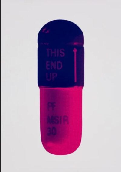 Damien Hirst THE CURE - Ice Pink/Mauve/Rasberry Siebdruck aus 2014, Format 72 x 51 cm entstanden in einer Auflage von 15 Exemplaren