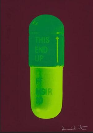 Damien Hirst THE CURE - Chocolate/Emerald Green/Lime Green Siebdruck aus 2014, Format 72 x 51 cm entstanden in einer Auflage von 15 Exemplaren