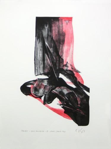 Karl Otto Götz Don Quixote B (rot) 2003 Grafik Lithografie 65 x 50 cm 30 Exemplare
